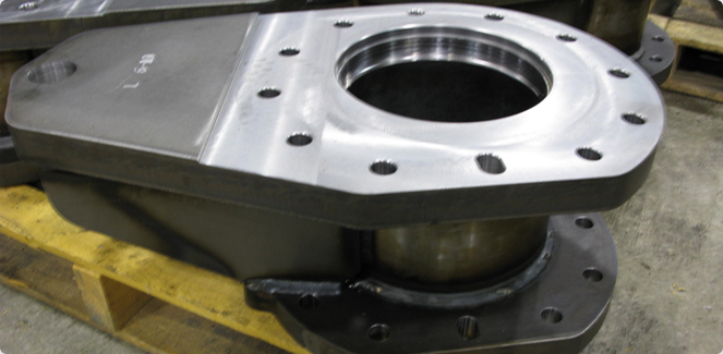 A gray or ductile machined part